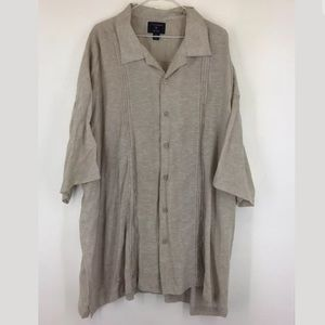 Mens Saddlebred Big Tall Linen Blend Shirt